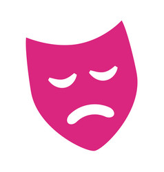 pink mask drama theater isolated design vector image