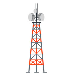 Power station tower with cords and antenna vector