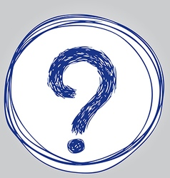 question mark 1 vector image