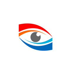 red blue eye logo symbol icon design vector image
