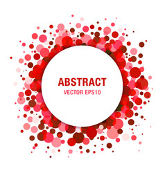 Red bright abstract circle frame design element vector