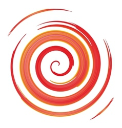 red watercolor spiral vector image