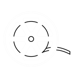 Reel icon outline style vector