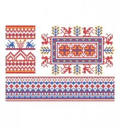 Russian ornament patterns vector image
