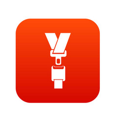 Safety belt icon digital red vector