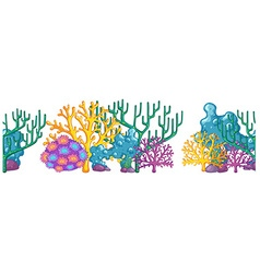 Seamless background with coral reef vector