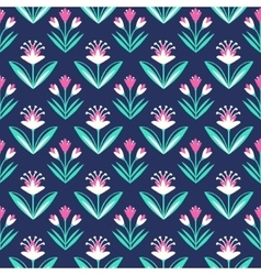 Seamless pattern with decorative floral ornament vector image