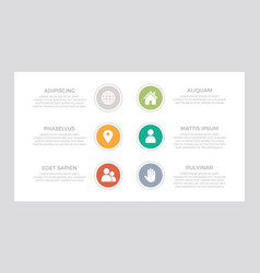 set green turquoise orange and red elements vector image