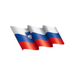 slovenia flag on a white vector image