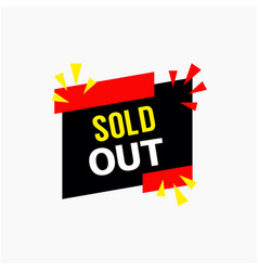 sold out template design vector image