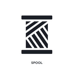 Spool isolated icon simple element from sew vector
