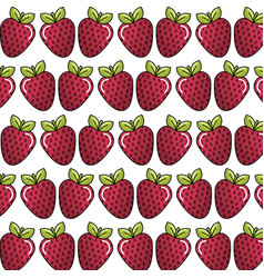 Strawberry background icon stock vector