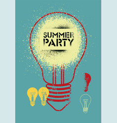 summer party vintage grunge poster design vector image