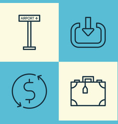 Transportation icons set collection enter vector