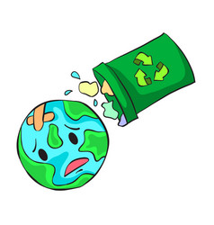 trash on world doodle style vector image