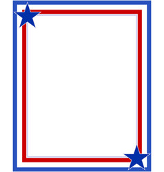 Us abstract flag symbolic frame with stars vector