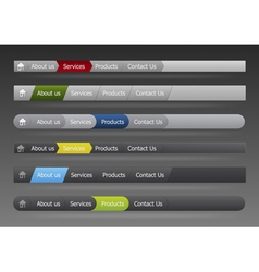 vector menu in black and gray color vector image