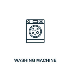washing machine icon thin style design from vector image