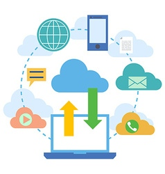 web banners for cloud computing services vector image