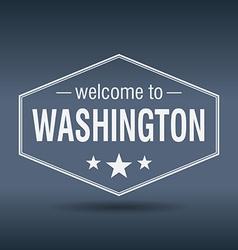 Welcome to Washington hexagonal white vintage vector
