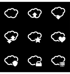 white cloud icon set vector image