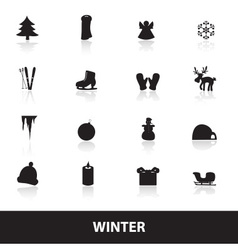 winter icons eps10 vector image