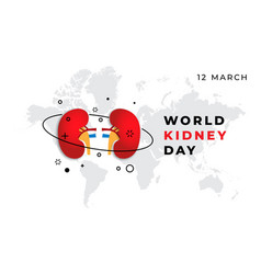 world kidney day banner on a blue vector image