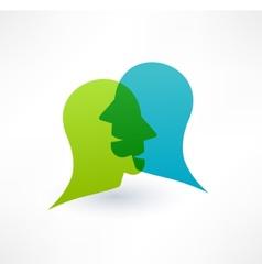Community icon Dialogue concept Logo design vector image