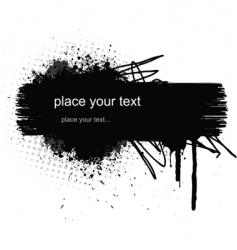 grunge banner vector image
