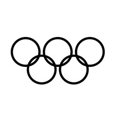 olympic rings black color icon vector image