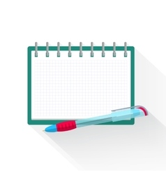 Agenda paper and pen for planning one action list vector image