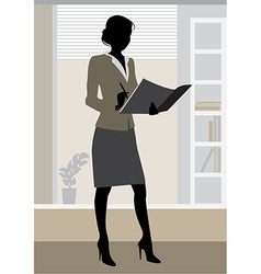 businesswoman office vector image