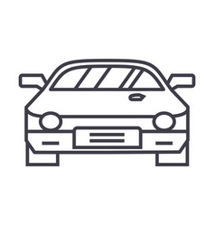 car raceracing line icon sign vector image