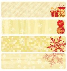 christmas beige banners vector image