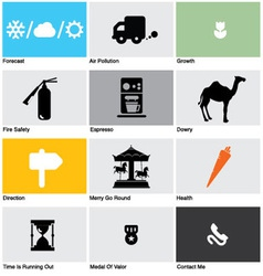 icons set vector image vector image