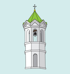 image of a church bell tower vector image