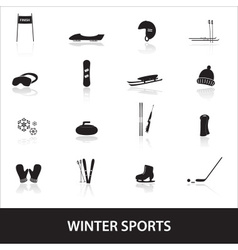 winter sports eps10 vector image