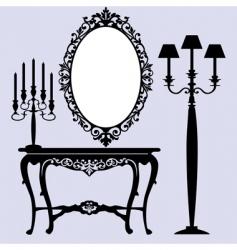 antique furniture vector image