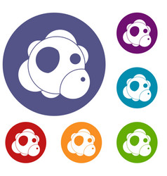atom icons set vector image