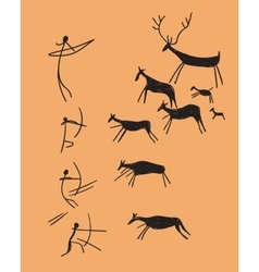 depicting hunting vector image vector image