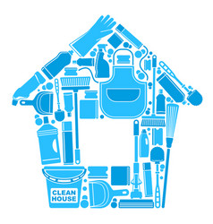 symbols of a clean house vector image