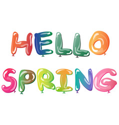 bright springcard template hello spring vector image vector image