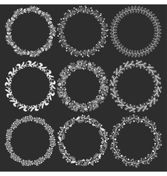 Floral wreath Set vector image vector image