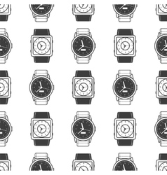 Geometric seamless pattern with watches vector image