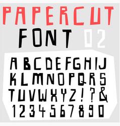 hand drawn doodle font set vector image vector image