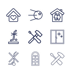 9 inside icons vector