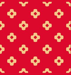 abstract ornamental floral seamless red pattern vector image