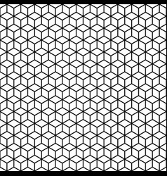 Abstract seamless pattern lineart cubes vector