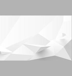 abstract white 3d polygonal background vector image