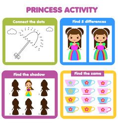 Activity page for kids educational children game vector